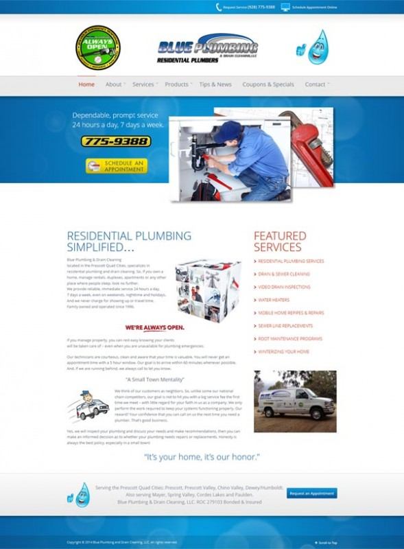 Blue Plumbing & Drain Cleaning